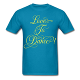 Love to Dance Yellow - Unisex - turquoise