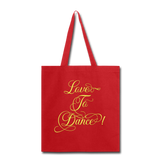 Love to Dance! Yellow - Tote2 - red