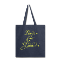 Love to Dance! Yellow - Tote2 - navy