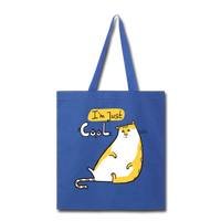 I'm Just Cool Cat - Tote - royal blue