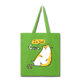 I'm Just Cool Cat - Tote - lime green