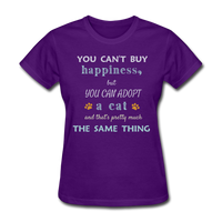 Happiness Adopt Cat - Ladies - purple