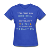 Happiness Adopt Cat - Ladies - royal blue