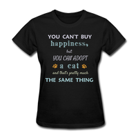 Happiness Adopt Cat - Ladies - black