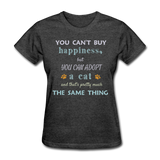 Happiness Adopt Cat - Ladies - heather black