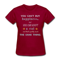 Happiness Adopt Cat - Ladies - dark red