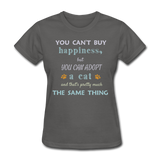 Happiness Adopt Cat - Ladies - charcoal