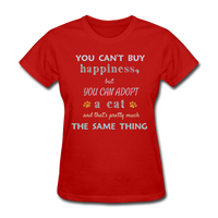 Happiness Adopt Cat - Ladies - red