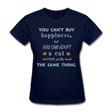 Happiness Adopt Cat - Ladies - navy