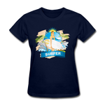 Surfer Lady and Dolphins - Ladies - navy