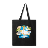 Lady Surfer and Dolphins - Tote - black