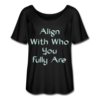 Align With - Ladies Scoop Neck - black