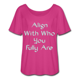 Align With - Ladies Scoop Neck - dark pink
