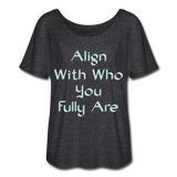 Align With - Ladies Scoop Neck - charcoal gray