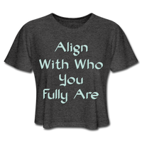 Align With - Ladies Cropped - deep heather