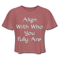 Align With - Ladies Cropped - mauve
