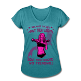 About Them Weights - Tri-blend V-Neck - heather turquoise