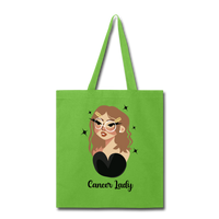 Cancer Lady - Tote - lime green