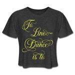 Yellow Line Dancing Word  - Cropped - deep heather