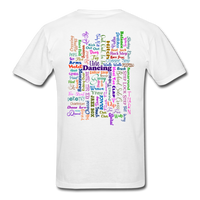 Purple Gel Line Dancing Word - Unisex - white