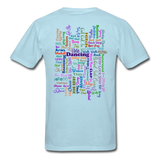 Purple Gel Line Dancing Word - Unisex - powder blue