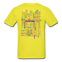 Purple Gel Line Dancing Word - Unisex - yellow
