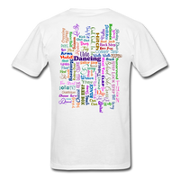 Dark Teal Line Dancing Word - Unisex - white