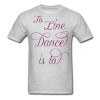 Dark Teal Line Dancing Word - Unisex - heather gray