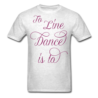 Dark Teal Line Dancing Word - Unisex - light heather gray