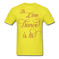 Dark Teal Line Dancing Word - Unisex - yellow