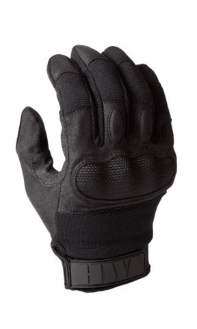 HWI HARD KNUCKLE TOUCH SCREEN DUTY GLOVES -KTS100 (BLACK)