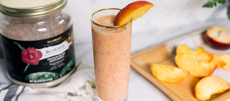 FiTONIC Blissed Cacao Mango Protein Smoothie Recipe