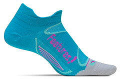 Single teal colored sock with gray toe