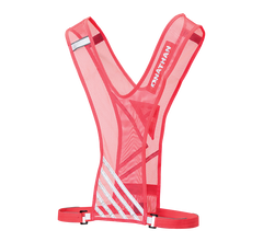 Hot pink reflective running vest outline