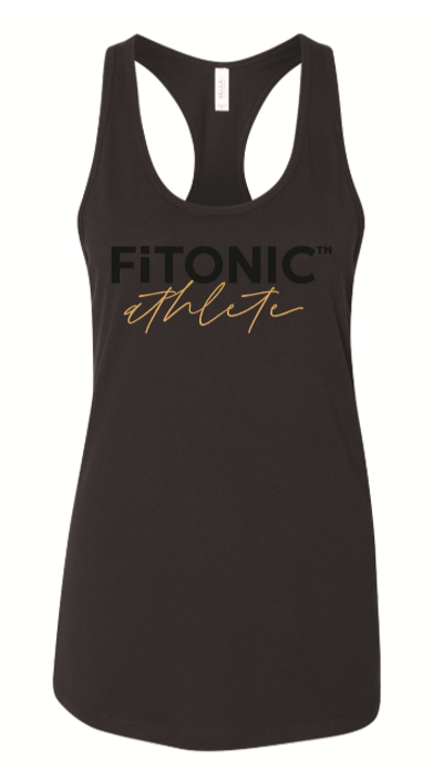FiTONIC Athlete Racerback Tank (Black)