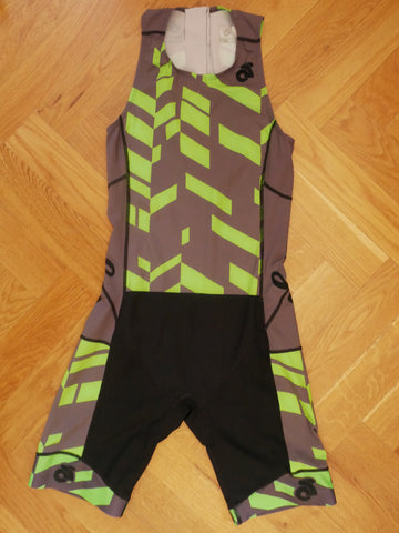 Apex Men Tri Suit (black-green/back zipper)