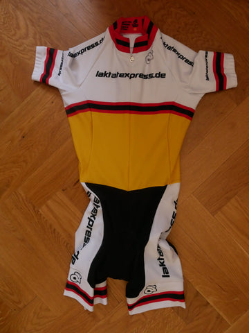 Cycling Suit, women (yellow-white)