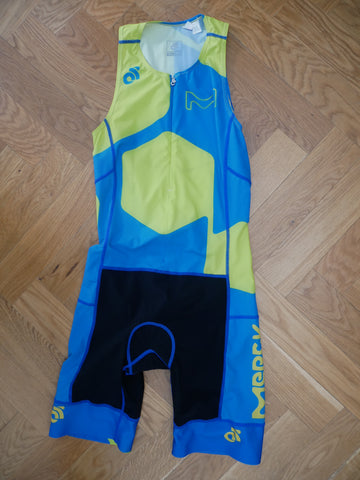 Apex Men Tri Suit (green-blue/ front zipper) + names