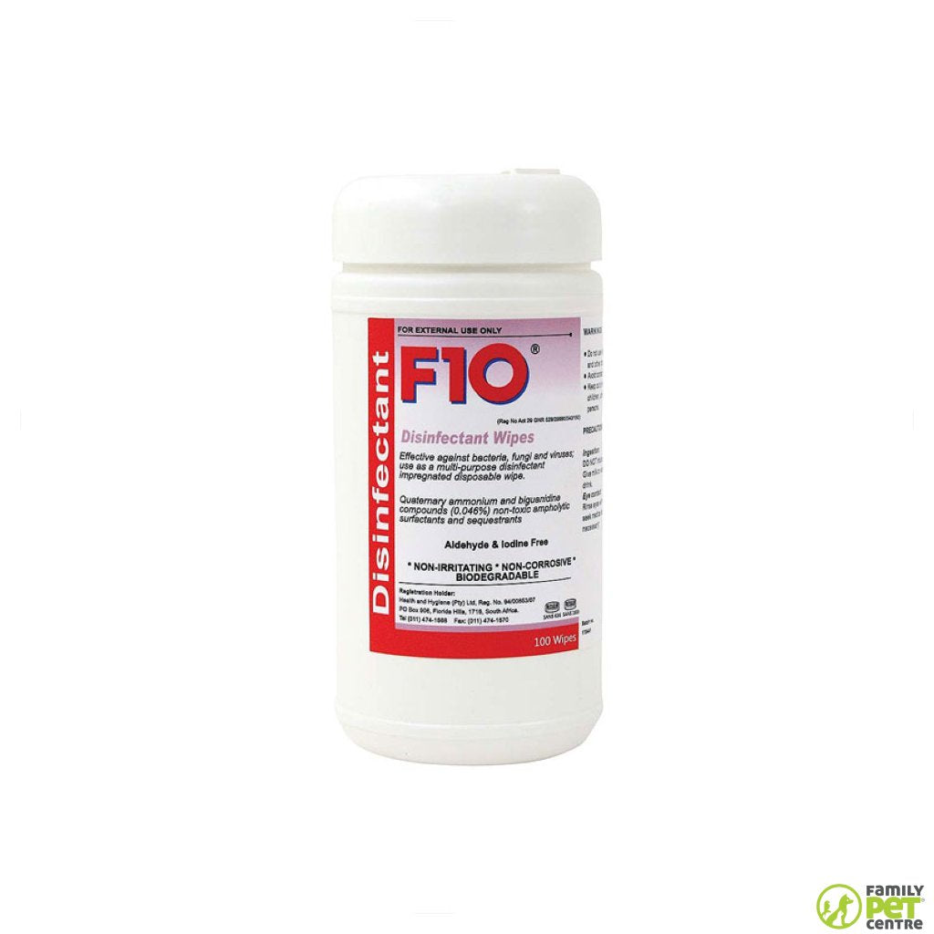 F10 100 Disinfectant Wipes