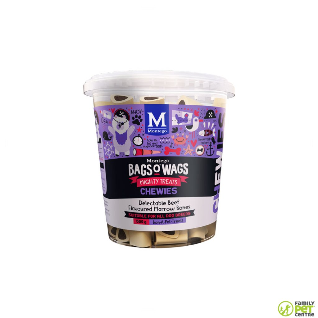 Montego Bags O' Wags Chewies Dog Treats - Marrow Bones