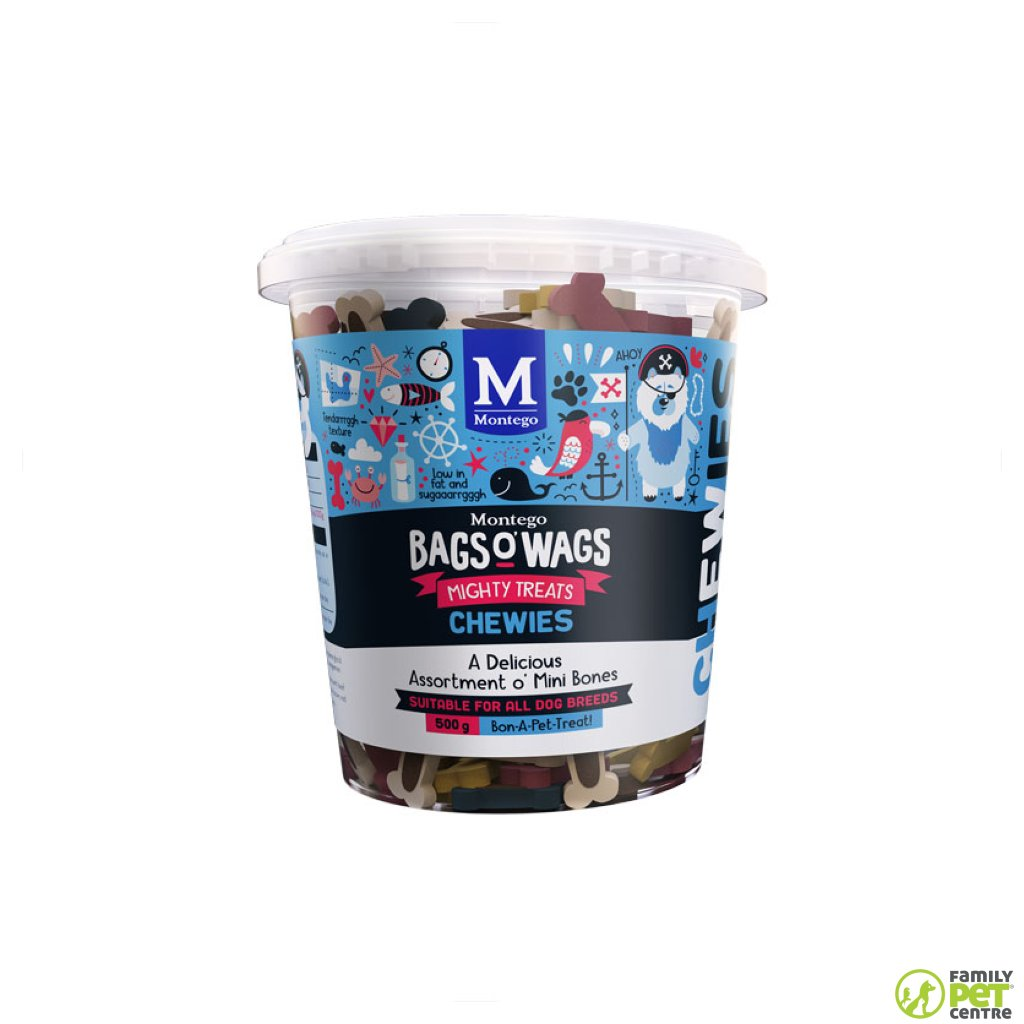 Montego Bags O' Wags Chewies Dog Treats - Mini Bones