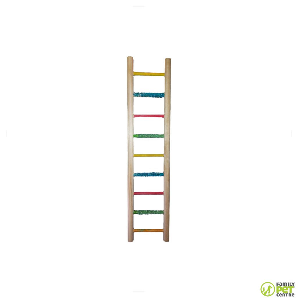 Birrdeez Budgie Ladder 9 Step All Wood
