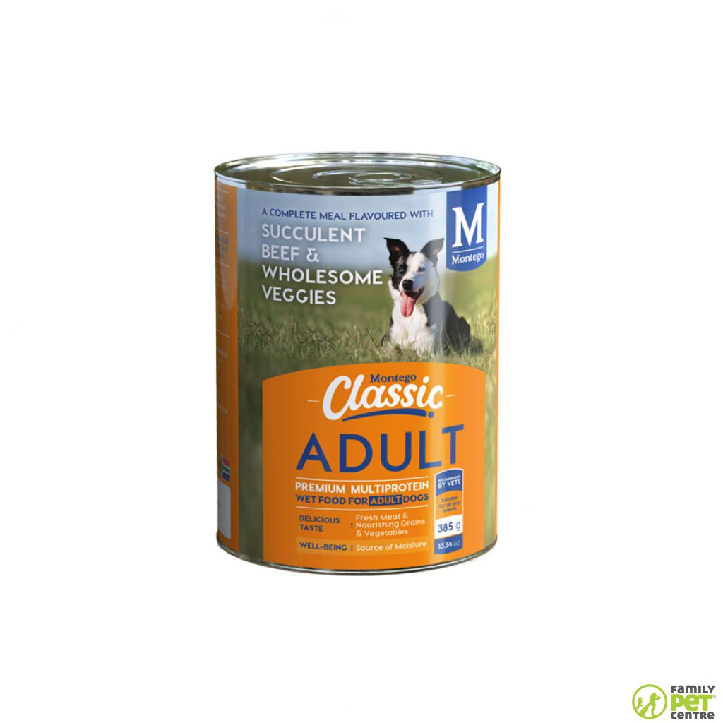 Montego Classic Canned Adult Dog Food - Succulent Beef & Wholesome Veggies