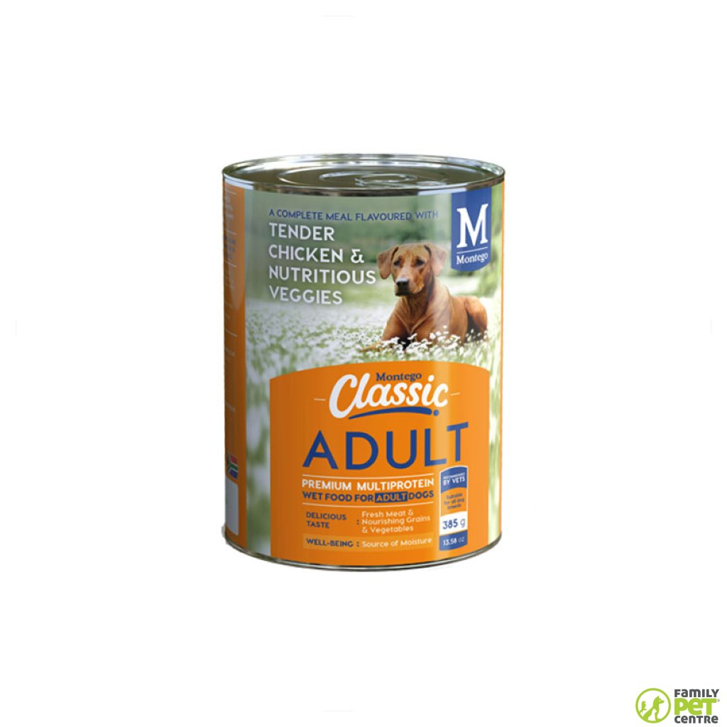 Montego Classic Canned Adult Dog Food - Tender Chicken & Nutritious Veggies
