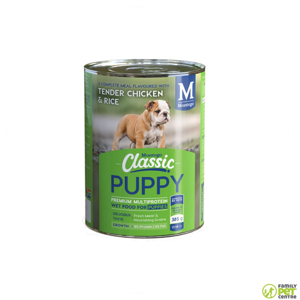 Montego Classic Canned Puppy Food - Tender Chicken & Soft Cooked Rice