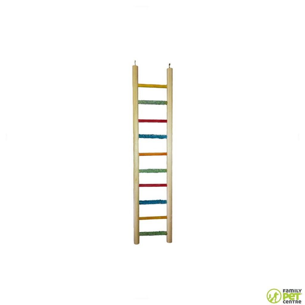 Birrdeez Cockatiel All Wood 10 Step Ladder