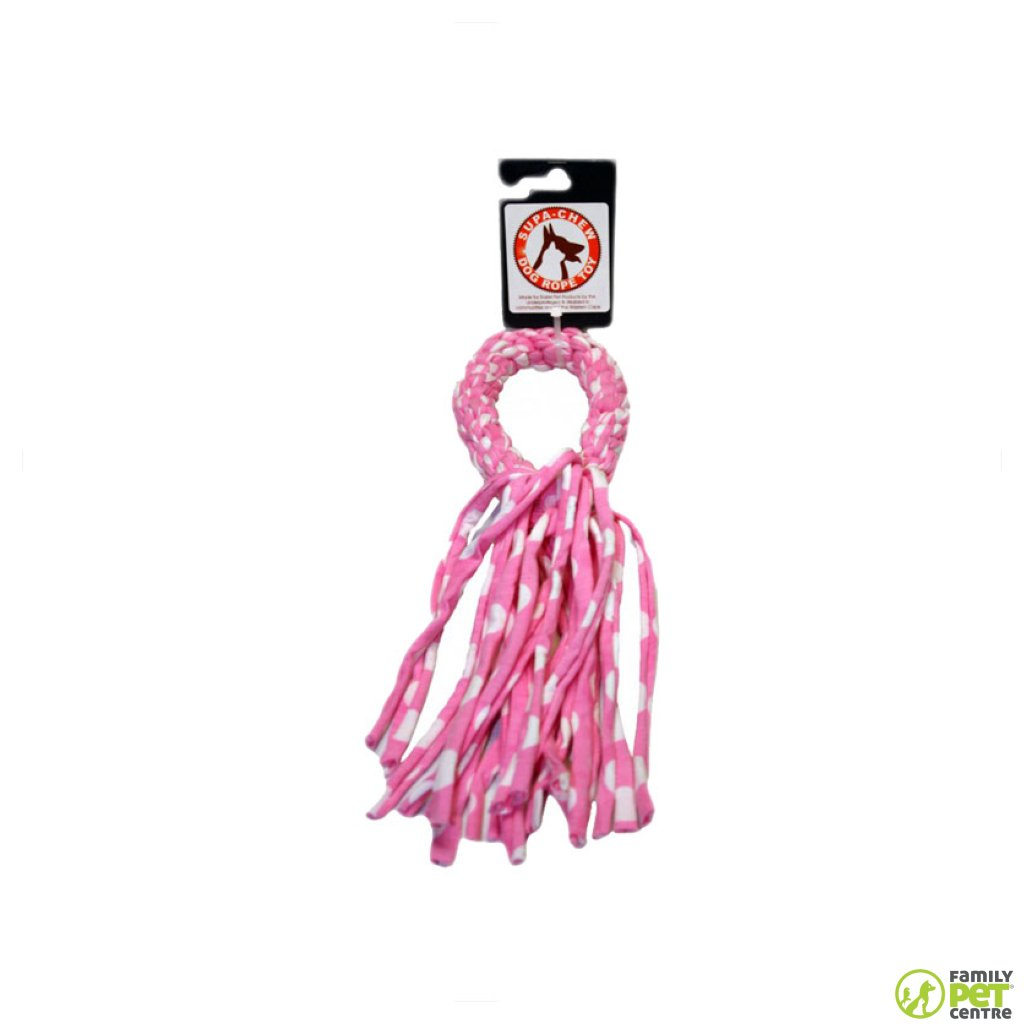 Supa Chew Cotton Ring Rope Dog Toy