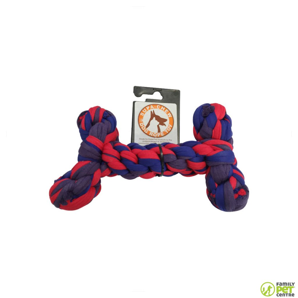 Supa Chew Cotton Rope Chew Bone Dog Toy