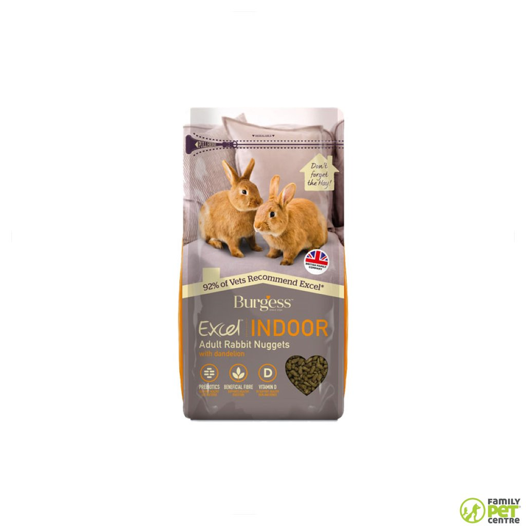 Burgess Excel Indoor Rabbit Nuggets