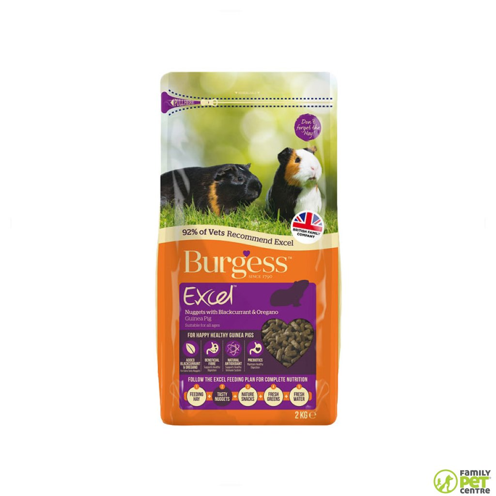 Burgess Excel Nuggets With Blackcurrant & Oregano Guinea Pig Food
